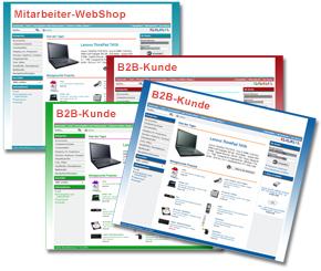 B2B- und Mitarbeiter-WebShop