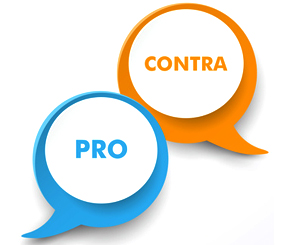 Reseller Blog für Meinungen, Ideen und Kommentare / Pro und Contra Sprechblase