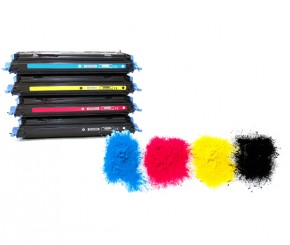 Abbildung Tonerbild mit diversen Farben für Recycling Toner der Firma Interprinting AG