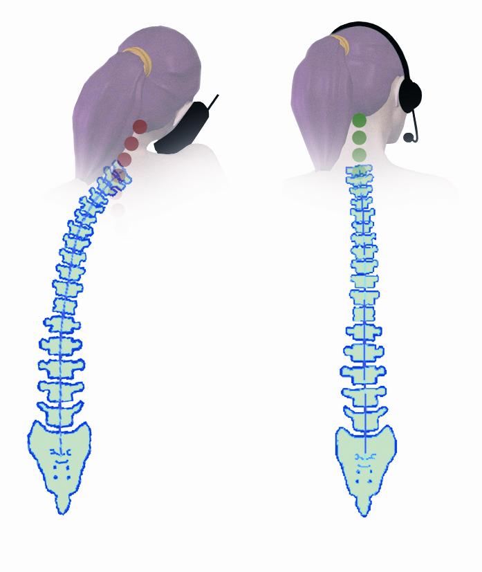 Abiildung Ergonomie Rücken