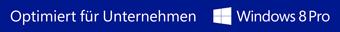 Logo Windows 8 Pro - Optimiert für Unternehmen