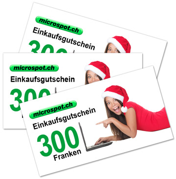 Logo Jagd Weihnachten 2015 / Microspot Geschenkgutschein