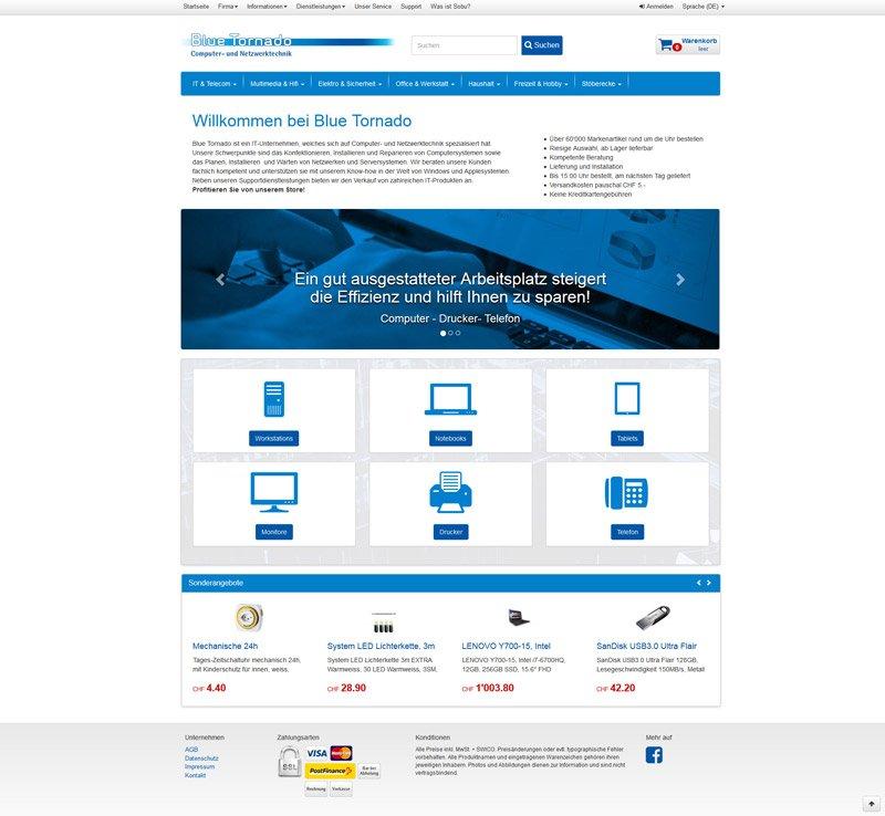 Concerto WebShop BlueTornado