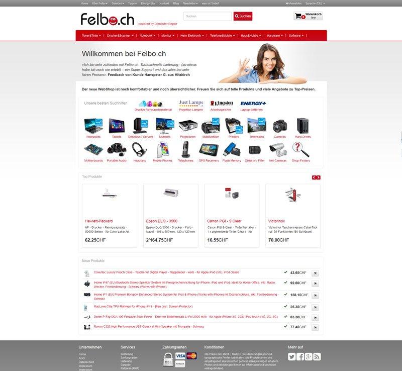 Concerto WebShop Felbo.ch