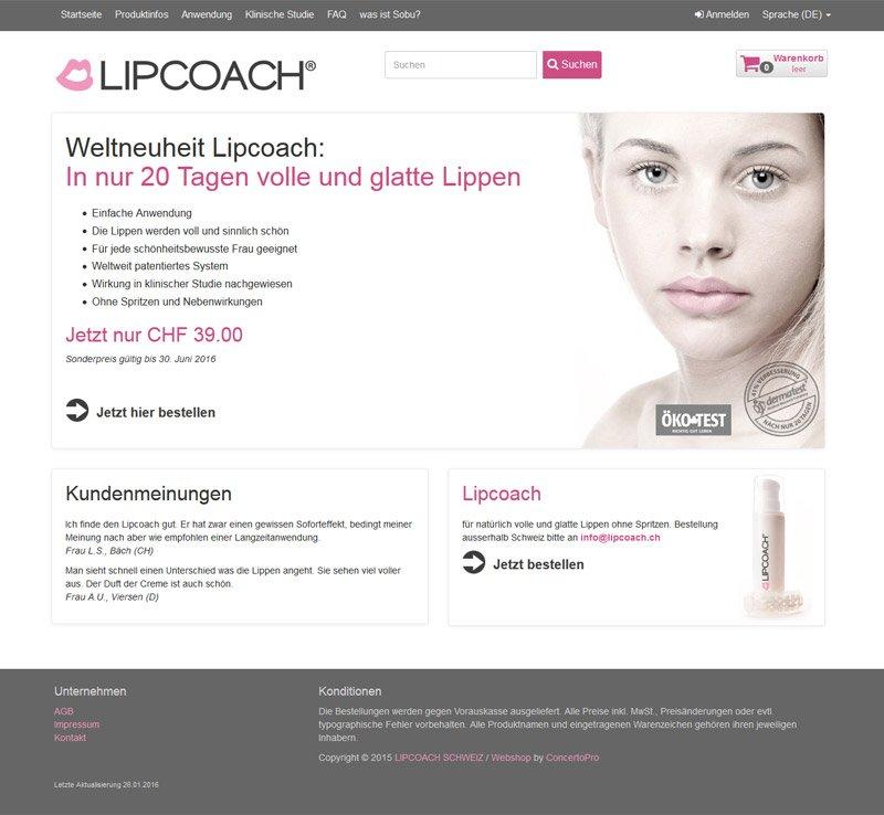Concerto WebShop Lipcoach