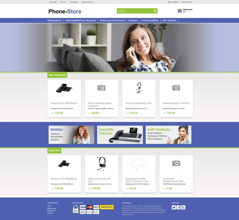 Concerto WebShop Telefon