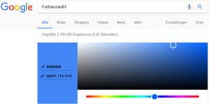 Google Farbauswahl