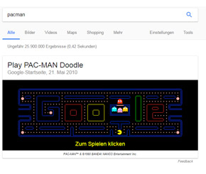 Google-Game für die Pause: Pac-Man