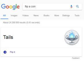 Google Münzwurf