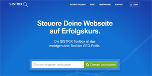 SEO-Tools: Die Sistrix Toolbox