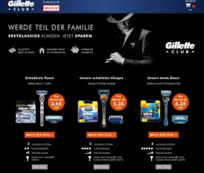 Concerto WebShop Gillette Club powered by Brack.ch