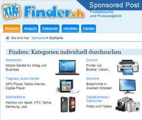 Lassen Sie sich finden mit Finder.ch