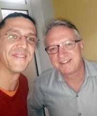 Daniel Rossi mit Armin Vogel von Vocom