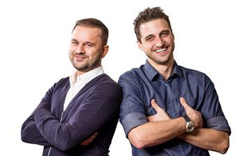 Marco Siconolfi und Stefan Furrer von NewStore