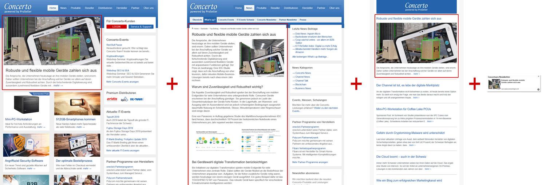 Concerto Newsportal / Publireportage