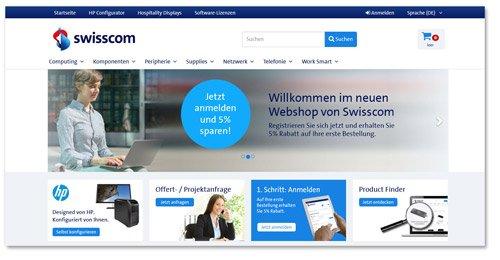 Concerto Webshop-Referenz Swisscom