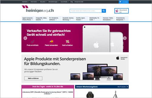 ProSeller E-Commerce-Lösung / Referenz Heiniger