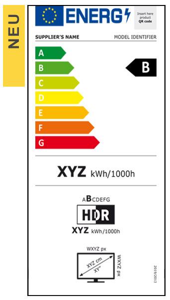 Energieeffizienz-Label neu