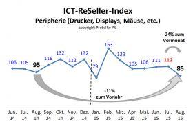 ICT ReSeller Index August 2015 / Peripherie