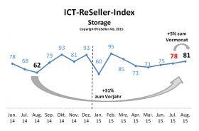ICT ReSeller Index August 2015 / Storage